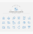 icon and logo for laundry and dry clinning vector image vector image