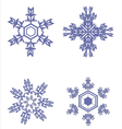 icons beautiful snowflakes vector image vector image