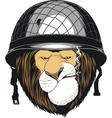 Leo soldier helmet vector image vector image