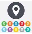 Map pointer icon GPS location symbol