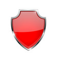 metal 3d red shield vector image vector image