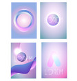 modern gradient shapes and covers design template vector image vector image