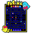 old school arcade vector image