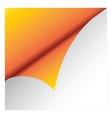 Orange sicker vector image vector image