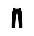 Pants Icon Flat vector image
