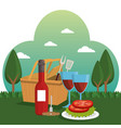 picnic party celebration scene vector image
