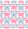pink butterfly pattern celebration seamless vector image vector image