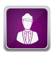 purple emblem guard person icon vector image vector image