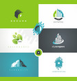 real estates houses logo design vector image vector image