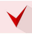 Red Check mark for design Stock vector image vector image