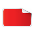 Red sticker on white vector image