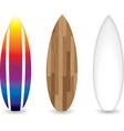 retro surfboards vector image vector image