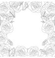 rose flower frame outline border vector image vector image