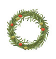 rosemary wreath in cartoon vector image vector image