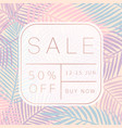 sale banner tropical style vector image vector image