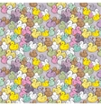 Seamless pattern with colorful baby ducks vector image
