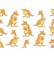 seamless pattern with kangaroos vector image vector image