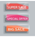 set of abstract sale banners with glass elements vector image vector image