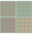 Set of seamless abstract floral patterns vector image vector image