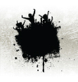 Silhouette of a party crowd on a grunge background vector image vector image