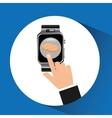 smart watch pharmacy health technology vector image vector image