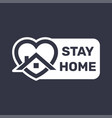 stay at home covid 19 or coronavirus protection vector image vector image