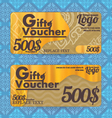 Thai Gift voucher template with colorful vector image