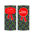 two vertical christmas banner set vector image vector image
