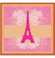 vintage retro Eiffel tower card vector image vector image