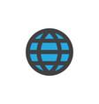 world flat icon symbol premium quality isolated vector image