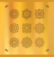 design elements graphic thai design on a gold vector image