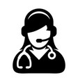 woman doctor icon online consultation vector image