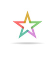 Colorful star abstract business logo design vector image