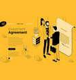 agreement with a handshake vector image