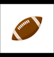 american football ball icon isolated on white vector image