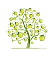 Apple tree for your design vector image