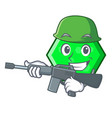 army octagon character cartoon style vector image