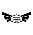 Avia adventure logo simple style
