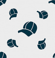 Ball cap icon sign Seamless pattern with geometric vector image