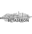 betaseron text word cloud concept vector image vector image