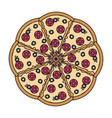 big italian pizza vector image