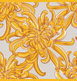 big yellow flower pattern tropical bloom ornament vector image