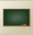 blackboard or greenboard classboard or chalkboard vector image