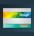 brochure flyer design template vector image vector image