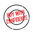 buy with confidence rubber stamp vector image vector image