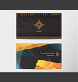 card design template abstract creative Thai style vector image vector image