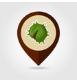 Chestnut mapping pin icon Harvest Thanksgiving vector image vector image