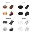 chocolate donut chocolate bardessert americano vector image vector image