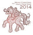 Christmas lace card vector image