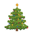 christmas tree flat new year vector image